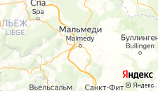 Отели города Мальмеди на карте