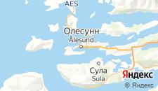 Отели города Алесунд на карте