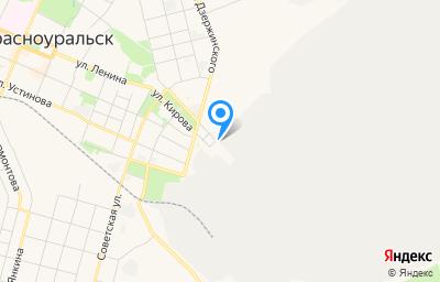 Местоположение на карте пункта техосмотра по адресу Свердловская обл, г Красноуральск, ул Кирова, д 2