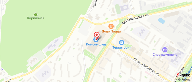 Карта расположения пункта доставки Новоуральск Автозаводская в городе Новоуральск