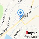 Магазин продовольственных товаров на карте Дегтярска
