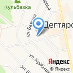 Средняя общеобразовательная школа №16 на карте Дегтярска