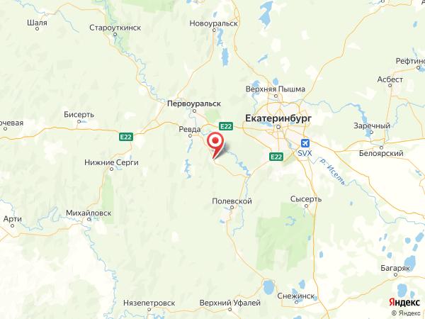 Дегтярск на карте