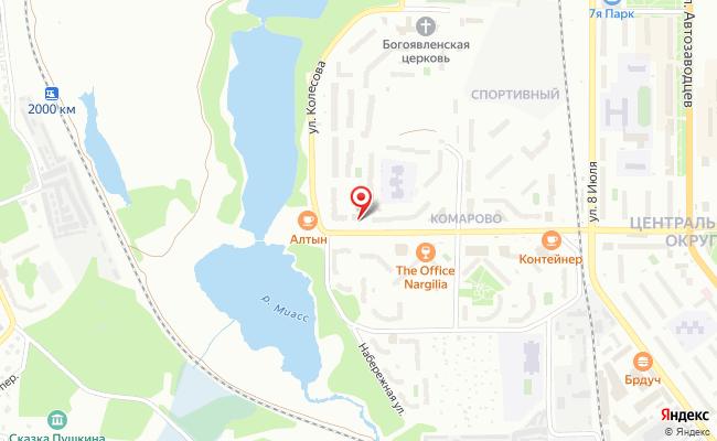 Карта расположения пункта доставки Халва в городе Миасс