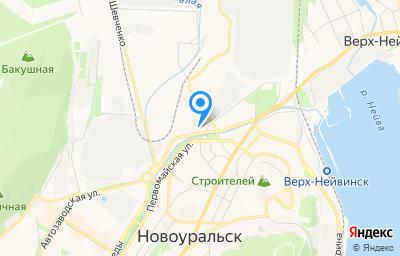 Местоположение на карте пункта техосмотра по адресу Свердловская обл, г Новоуральск, ул Дзержинского, д 10А