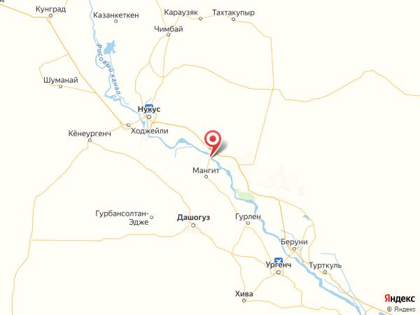 городской посёлок Кипчак на карте