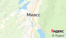 Гостиницы города Миасс на карте