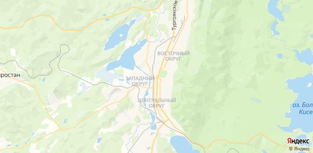 Миасс на карте