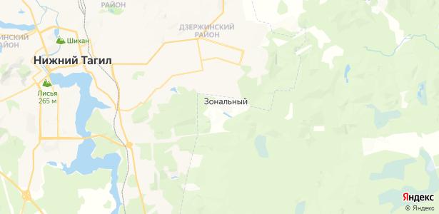 Зональный на карте