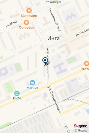 БЮДЖЕТНО-СТРАХОВАЯ АПТЕКА № 114 на карте Инты
