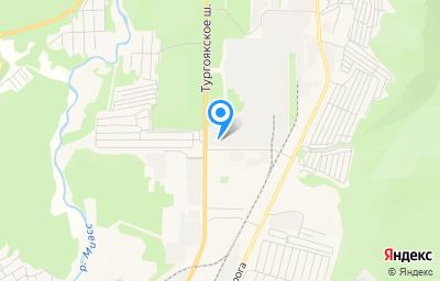 Местоположение на карте пункта техосмотра по адресу Челябинская обл, г Миасс, ш Тургоякское, д 1