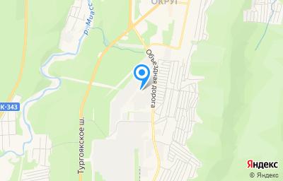 Местоположение на карте пункта техосмотра по адресу Челябинская обл, г Миасс, тер Коллективный Сад Северный-2, ул Вишневая