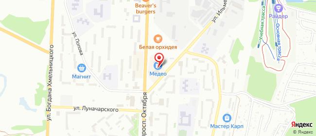 Карта расположения пункта доставки СИТИЛИНК в городе Миасс