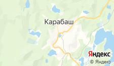 Гостиницы города Карабаш на карте