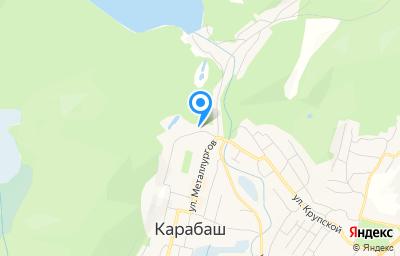 Местоположение на карте пункта техосмотра по адресу Челябинская обл, г Карабаш, ул Металлургов, д 23