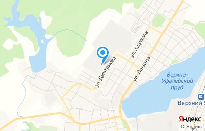 Местоположение на карте пункта техосмотра по адресу Челябинская обл, г Верхний Уфалей, ул Дмитриева, д 26, пом 17