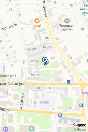 АЗС НЕФТЕСБЫТ на карте Невьянска