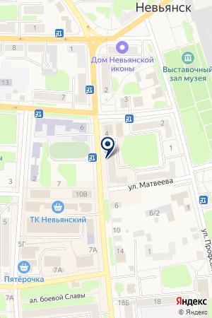 АПТЕКА ЛЕКО на карте Невьянска