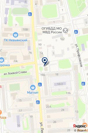 АМЕТИСТ на карте Невьянска