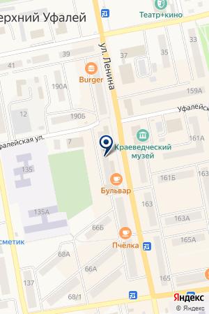БАНКОМАТ ЧЕЛИНДБАНК на карте Верхнего Уфалея