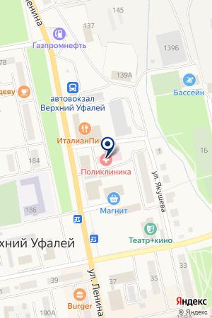 ПАВИЛЬОН ЦЕНТРАЛЬНЫЙ на карте Верхнего Уфалея