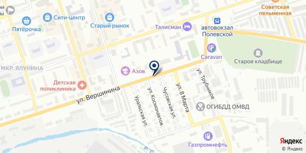 АГЗС N 14 на карте Полевском