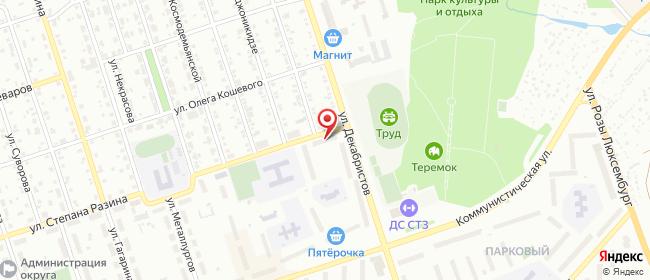 Карта расположения пункта доставки Полевской Степана Разина в городе Полевской