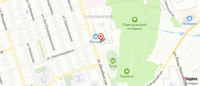 Карта расположения пункта доставки Ростелеком в городе Полевской