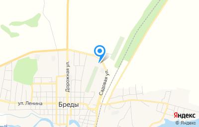 Местоположение на карте пункта техосмотра по адресу Челябинская обл, п Бреды, ул Пролетарская, д 30