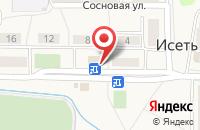 Схема проезда до компании Продуктовый магазин в Исети