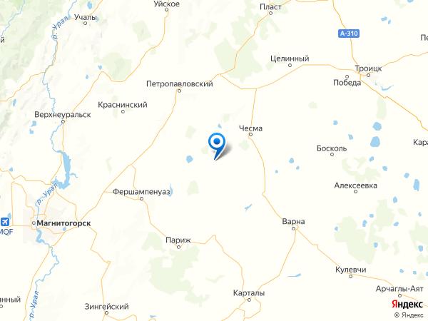 село Светлое на карте