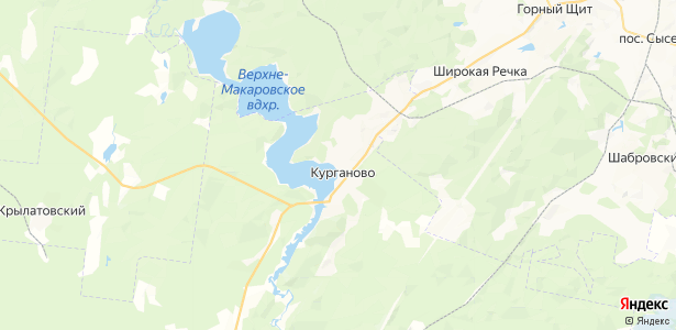 Курганово на карте