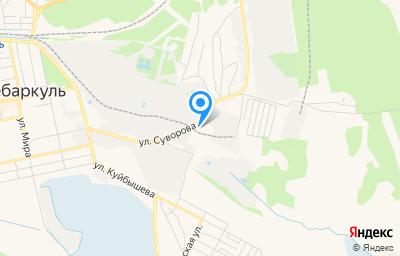 Местоположение на карте пункта техосмотра по адресу Челябинская обл, г Чебаркуль, ул Суворова, д 11