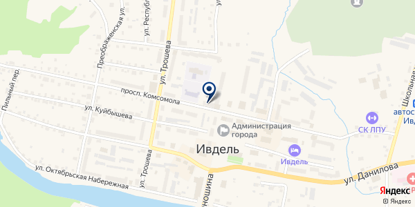 МАГАЗИН ЮБИЛЕЙНЫЙ на карте Ивделе