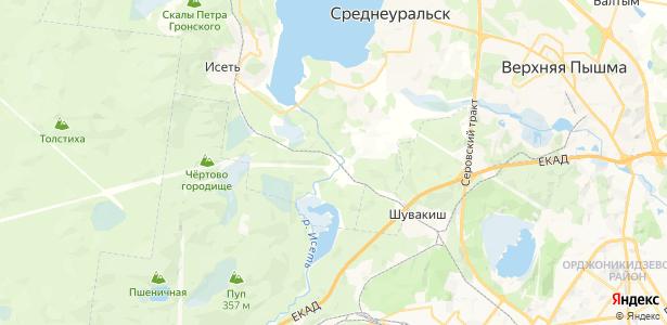 Гать на карте