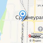 Дума городского округа Среднеуральск на карте Среднеуральска