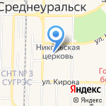 Продуктовый магазин на карте Среднеуральска