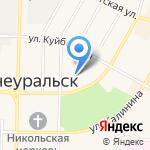 Автошкола-Исеть на карте Среднеуральска