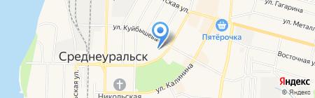 Средняя общеобразовательная школа №31 на карте Среднеуральска