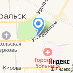 Магазин продуктов на карте Среднеуральска