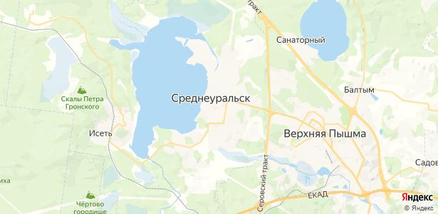 Среднеуральск на карте