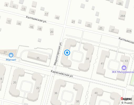 Товарищество собственников недвижимости «Карасьевская 37» на карте Екатеринбурга
