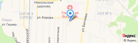 Магазин отделочных материалов на карте Среднеуральска