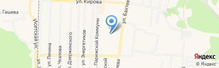 Три клюшки на карте Среднеуральска