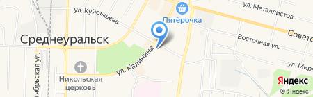 Банкомат Уральский банк реконструкции и развития на карте Среднеуральска