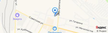 Автостоянка на ул. Строителей на карте Среднеуральска