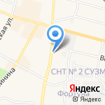 Автостоянка на карте Среднеуральска
