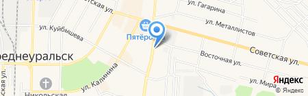 Автостоянка на Восточной на карте Среднеуральска