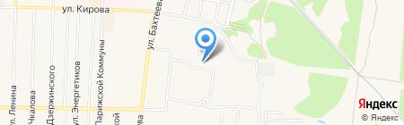 Автостоянка на ул. Бахтеева на карте Среднеуральска