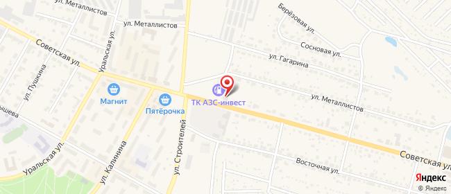 Карта расположения пункта доставки Среднеуральск Советская в городе Среднеуральск